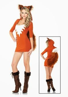 4854140e7cef38 This sexy fox costume is a unique animal Halloween costume for women from Leg  Avenue. Complete your sexy animal group costume with this sexy fox costume.