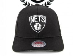 Brooklyn Nets Curved Brim Fitted Baseball Cap by MITCHELL & NESS x NBA