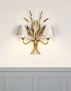 The #JimLawrence #Sussex #WallLight is the epitomy of #Autumn #elegance with its #wheatsheath design