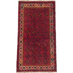 eCarpetGallery Baluch Red Hand-knotted Rug