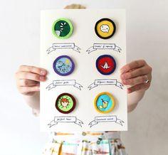 Now that's pretty: DIY Merit Badges