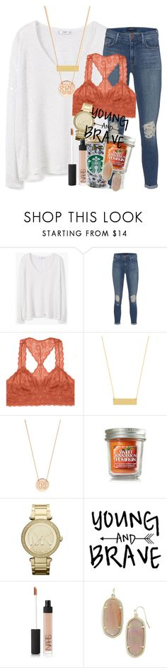 """fall crush"" by ellaswiftie13 on Polyvore featuring MANGO, J Brand, Youmita, BaubleBar, MICHAEL Michael Kors, NARS Cosmetics and Kendra Scott"