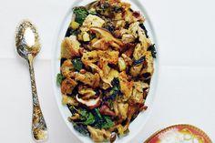 Rye, Kale, Mushroom, and Pumpkin Seed Stuffing / Michael Graydon & Nikole Herriott