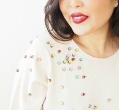 Make a ChaneI-Inspired Top with Nail Polish and Studs - Tuts+ Crafts & DIY Tutorial