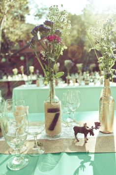 Unique Wedding Table Number Ideas, beach wedding table number www.loveitsomuch.com