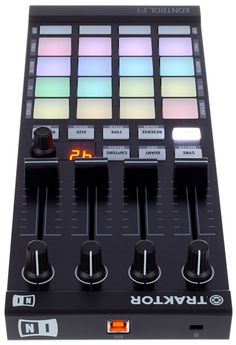 Native Instruments Traktor Kontrol F1, USB bus-powered DJ controller, plug and play, instant recognition by Native Instruments Traktor thomann Software, precision designed high-end buttons, knobs and encoders, software controlled backlit buttons, ....