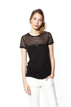T-shirt Tif noir Claudie Pierlot