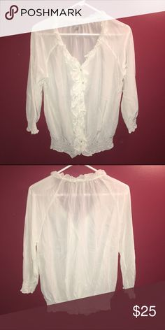 White Joie blouse White blouse Joie Tops Blouses
