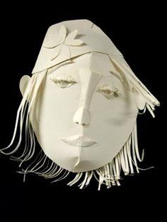 Art Lesson Plan: White Paper Relief Masks