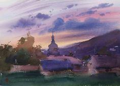 Artist Maksym Kiseliov Landscape Watercolour, Watercolour Paintings, Watercolor Artists, Wonderful Images, Still Life, Portrait, City, Nature, Artwork