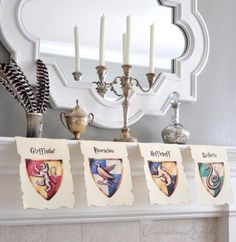 Hang school banners from every house to spruce up the party. | 29 Essentials For Throwing The Perfect Harry Potter Party