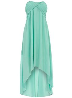 Dorothy Perkins  Mint ruched bandeau bridesmaid dress