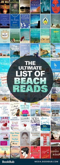 The ultimate book list of beach reads for your summer reading list. These beach books perfect novels to bring on vacation, or just for a lazy weekend!