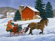 Dashing Through the Snow by John Sloane