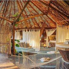 Love the hammocks. Let's do a reservation for 25k people @kintohtulum #treehouseclub