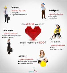 Afla ce meserii vor avea copiii iubitori de LEGO Lego, Movie Posters, Kids, Firefighter, Young Children, Boys, Film Poster, Popcorn Posters, Children