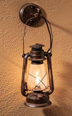 Large Antique Lantern Sconce