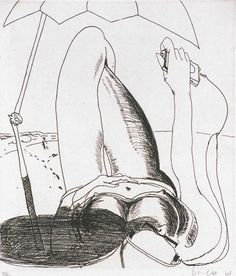 Brett Whiteley, A Day at Bondi 1984 (From a Suite of Ten Etchings)