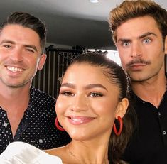 ♡ Follow me @NoraIsabelle for more ✨♡ Zendaya & Zac Efron & idk the guy on the left