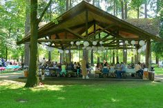 A picnic shelter like this would be handy just in case