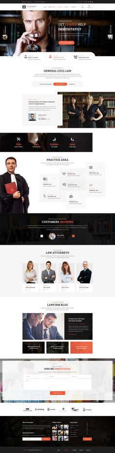 Buy Investigate - Lawyer and Attorney PSD Template by stillidea on ThemeForest. Investigate is the best Lawyer and Attorney PSD Template with dozens of awesome features and design you would have ne. Website Layout, Web Layout, Website Ideas, Template Web, Psd Templates, Lawyer Website, Photoshop, Website Design Inspiration, Business Design