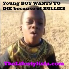 """Young BOY WANTS TO DIE #BULLIES AT SCHOOL! CLICK VIDEO: http://wp.me/p3IVw9-1mK """"I just don't want to be in this world if somebody don't want to be my friend."""" As this little boy explains that his Mom will be SAD that he really does want to die but he can't help it... is heartbreaking. He says he's got no one on his side and no one who wants to be his friend and they pick on him everyday. Hearing his Aunt's voice cracking as she films him is damned painful."""