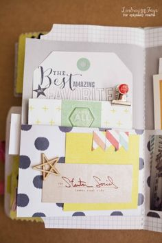 """#scrapbook #minialbum created with the @Heidi Swapp """"September Skies"""" Collection and the #epiphanycrafts Shape Studio Tools!"""