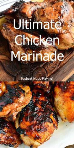 Baked Chicken Marinade, Chicken Marinades, Grilled Chicken Recipes, Keto Chicken, Boneless Chicken, Bbq Chicken Thighs Marinade, Chicken Marinade For Grilling, Rotisserie Chicken, Healthy Chicken