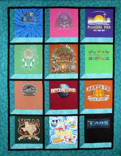 AtticWindowsTShirtQuilt - I love this setting by www.katytshirtquilts.com/