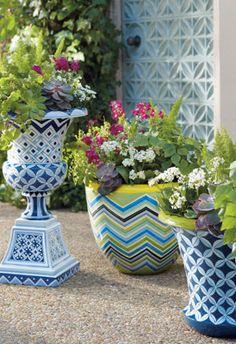 Eclectic Outdoor Garden Decor.