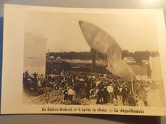 RARE Photo Postcard Santos Dumont N 6 Brazil After Crashing Early Aviation | eBay