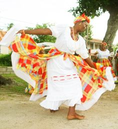 A woman from Grenada while dancing