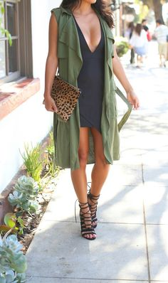 Olive green + black.                                                                                                                                                                                 More