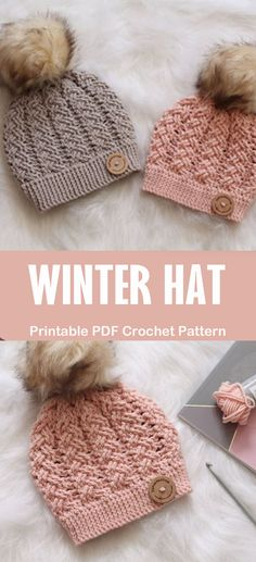 Jan 2020 - Looking for some cozy winter hat crochet patterns? I have gathered a vary of different patterns available from toddler to adult. Crochet Adult Hat, Crochet Winter Hats, Crochet Hat For Women, Crochet Beanie Pattern, Knit Or Crochet, Crochet Scarves, Crochet Crafts, Hat Patterns, Ideas
