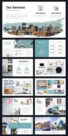 Portal Modern Powerpoint Template by Thrivisualy o. - Portal Modern Powerpoint Template by Thrivisualy o. Layout Design, Design De Configuration, Site Web Design, Graphisches Design, Slide Design, Graphic Design, Design Websites, Stand Design, Booth Design