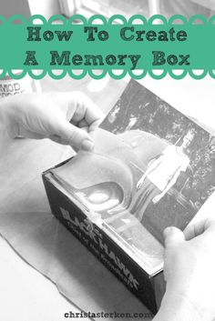 Want to create a place to house special family memories, or to honor someone you loved? This DIY- Tutorial For How To Create A Memory Box is cheap, fun and makes great gifts  www.christaterken.com
