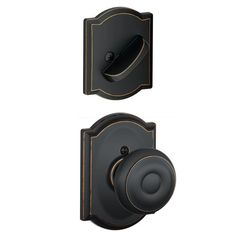 Schlage F94-GEO-CAM Georgian Dummy Interior Pack with Deadbolt Cover Plate and D