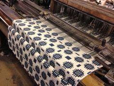 Welsh blanket being made on old weaving machines @ Solva Woollen Mill, Solva