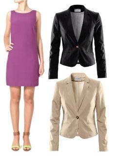 Cómo combinar un vestido corto morado Casual Blazer, Casual Outfits, Zara, Business Casual, Jackets, Fashion, Templates, Purple Dress, Outfit