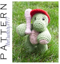 Crochet Pattern - Handful of Turtle  ~ Crocheted as directed with G hook, models which have been produced are approximately 8 inches tall. However, depending on your crochet style, this measurement may/will vary. ~