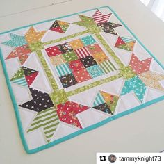 I have been enjoying starting to see your #sundropsfabric projects  pop up.  And I love seeing #prairiefabric projects too!  And before to long we'll have another little something to make projects with.  And I cannot wait to mix all three... #showmethemoda #modafabrics #Repost @tammyknight73 with @repostapp ・・・ We have a finish   Thank you for the support. All of you!   I'm mostly happy with the outcome. A few bits all around, to brush up on better before I tackle my 2 big ones for bin...