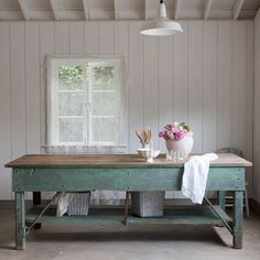 farmhouse table is a must - even if I have only room for it in my backyard :-)