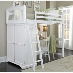 Bunk Bed with desk & dresser