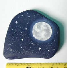 BIG 3 DAY SALE Starry Night Sky Painted Rock by IndieGirlCreations