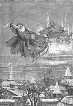 """""""Merry Christmas to All, and to All a Good-Night,"""" Thomas Nast's engraving for Harper's Weekly, December 30, 1865. Collection of Macculloch Hall Historical Museum"""