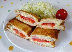 トマトハムチーズのホットサンド│パパッと簡単!ホットサンドレシピBAWBAW