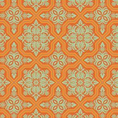 Joel Dewberry Heirloom Tile Flourish JD49 Amber by anthemfabrics, $8.70