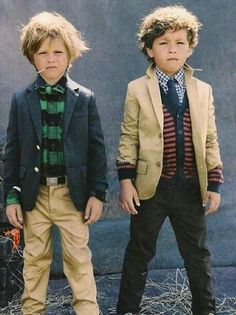 My kids are only allowed to wear J.crew or the like.