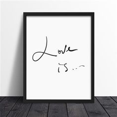 We Love Home - Love is Framed Print, 40x30x3cm