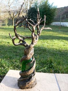 arbre bonzaî en papier maché port bijoux
